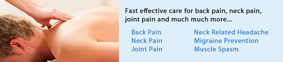 Back, neck pain and headache chiropractic treatment, Winchester